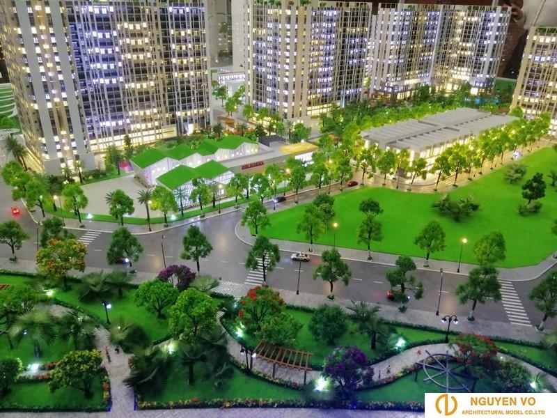 mô hình kiến trúc chung cư 2 - Cty Nguyên Võ