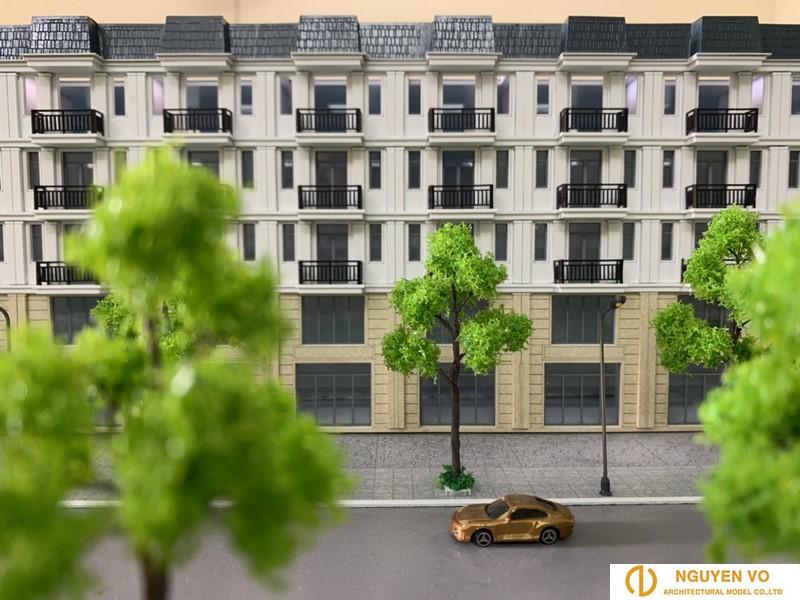 Mô hình nhà phố Song Minh Residence 2 - Thiết kế bởi Cty TNHH Nguyên Võ.