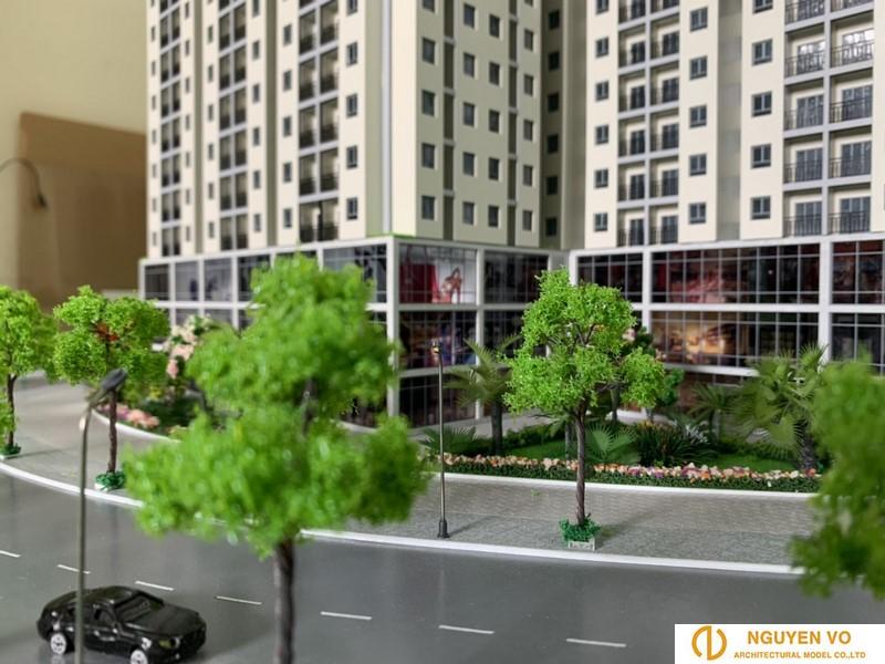 Mô hình nhà phố Song Minh Residence 4 - Thiết kế bởi Cty TNHH Nguyên Võ.