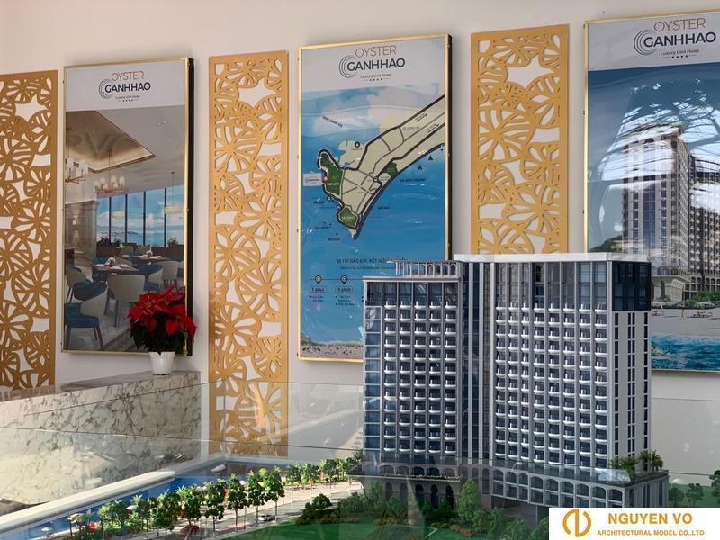 Mô hình kiến trúc cao ốc Oyster Gành Hào