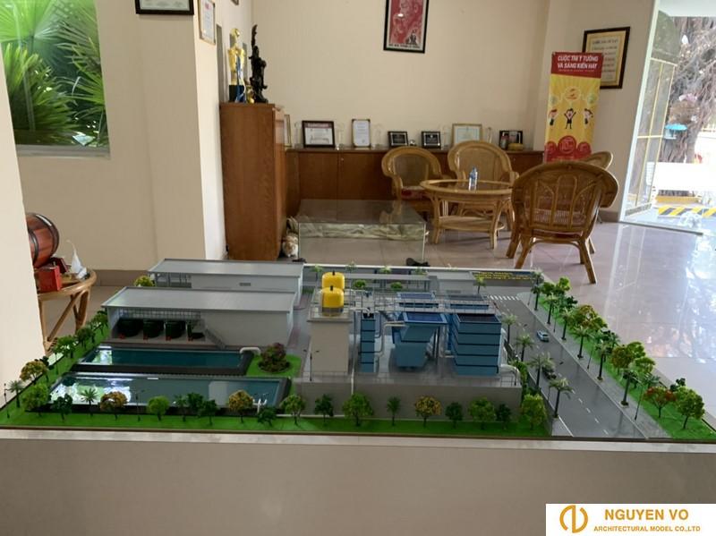 mô hình nhà máy câp nước Tam Hiệp Bến Tre