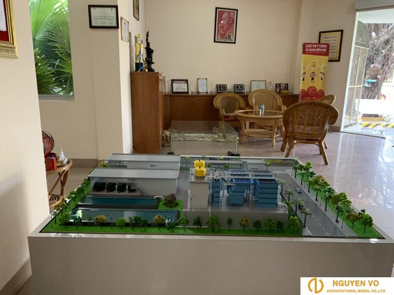 mô hình nhà máy cấp nước Tam Hiệp Bến Tre