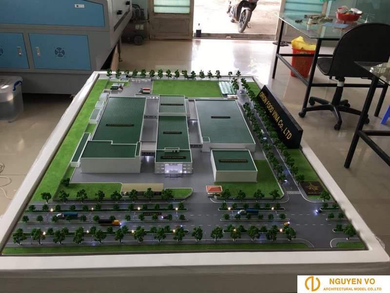 mô hình nhà máy orion food vina
