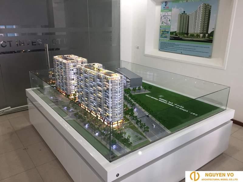 Mô hình chung cư cao ốc CHUNG TRANG LINH - Thiết kế bởi cty TNHH Nguyên Võ