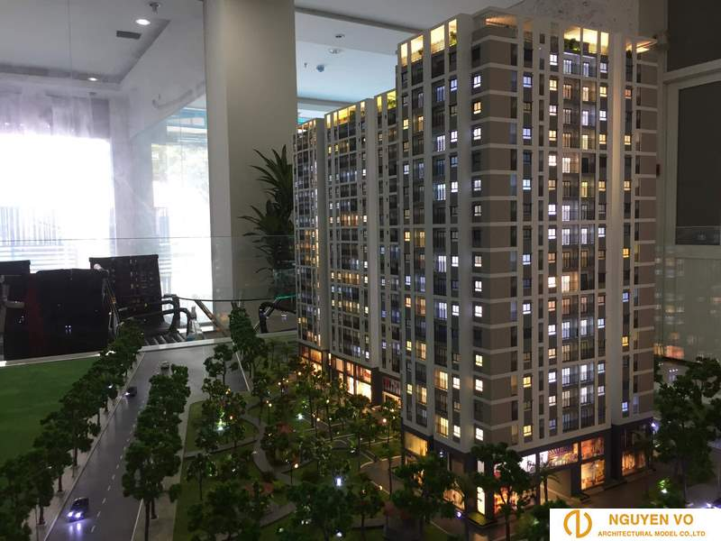 Mô hình chung cư cao ốc CHUNG TRANG LINH 2 - Thiết kế bởi Cty TNHH Nguyên Võ.