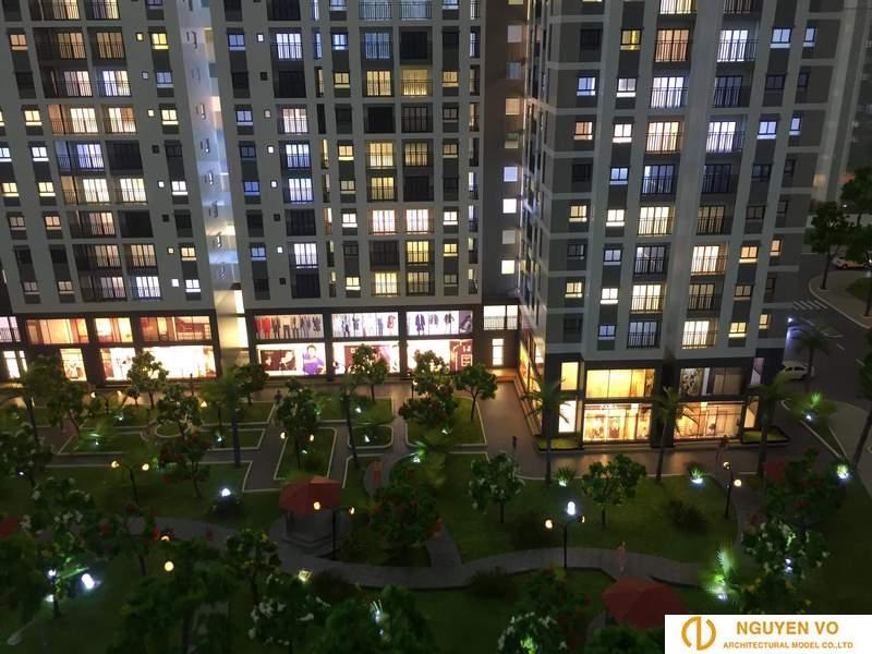 Mô hình chung cư cao ốc CHUNG TRANG LINH 4 - Thiết kế bởi Cty TNHH Nguyên Võ.